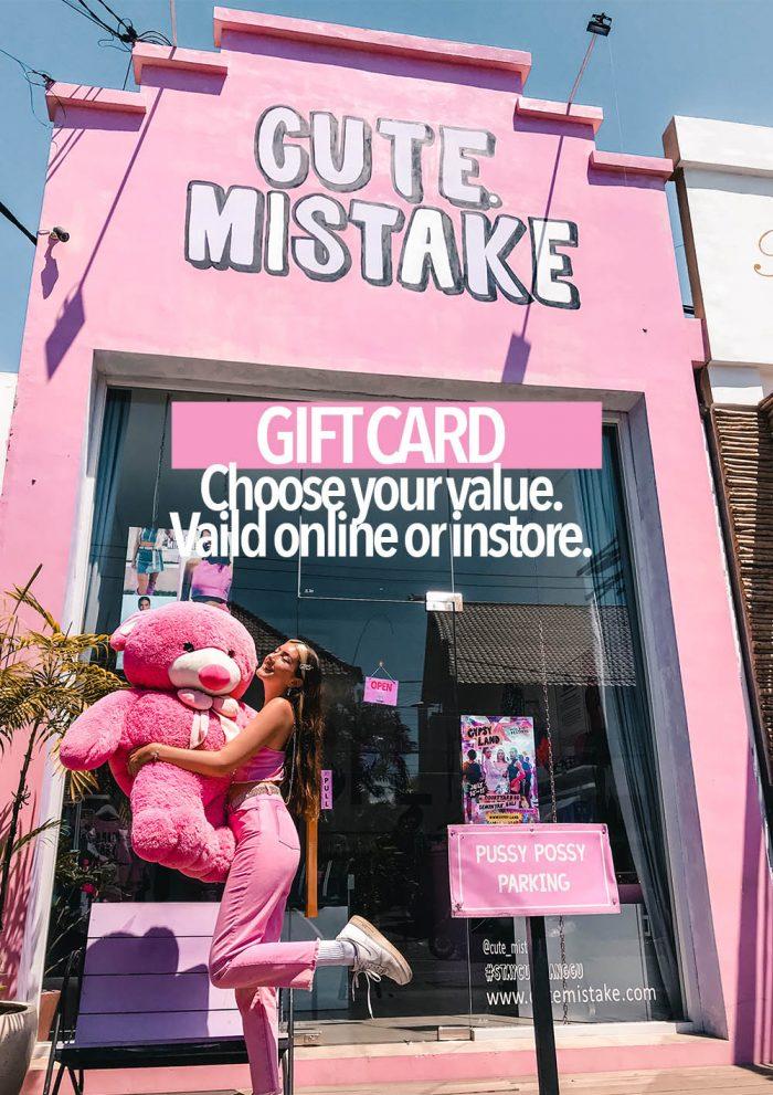 Gift Card Cute Mistake
