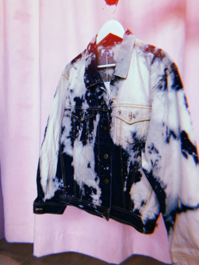 My Angel Custom Bleach Denim Jacket