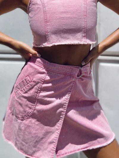 Thank U, Next Mini Skirt  – PINK