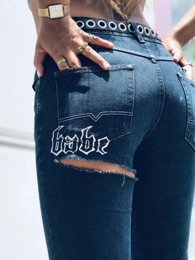 Babe, You're Cute Custom Jeans – DARK