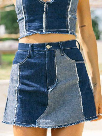 Elisha Denim Mini Skirt