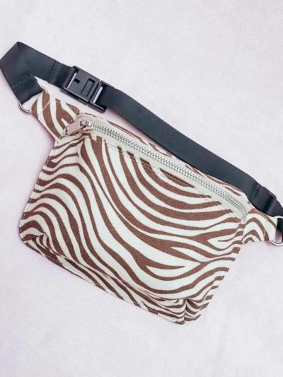 Wild Heart Bumbag – Brown Zebra